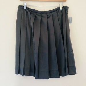 Old Navy Pleated Accordion Skirt Gray A Line 203